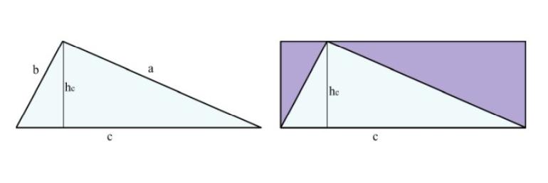 Dreieck Fläche berechnen - Darstellung