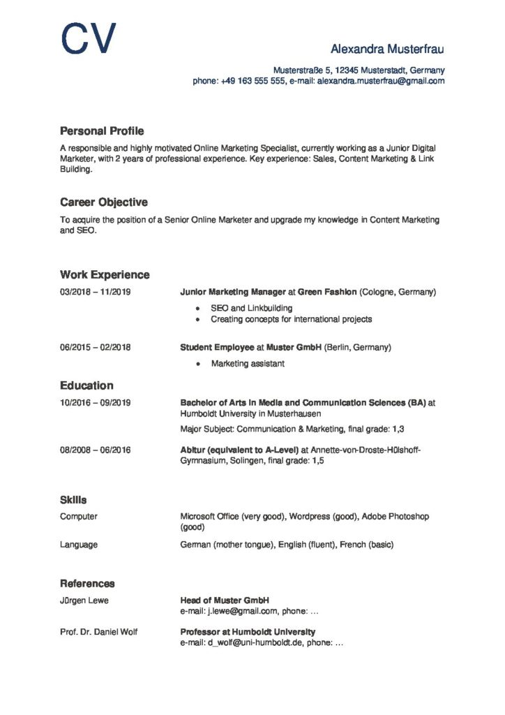 Bewerbung Englisch Vorlage Muster Bewerbungsschreiben