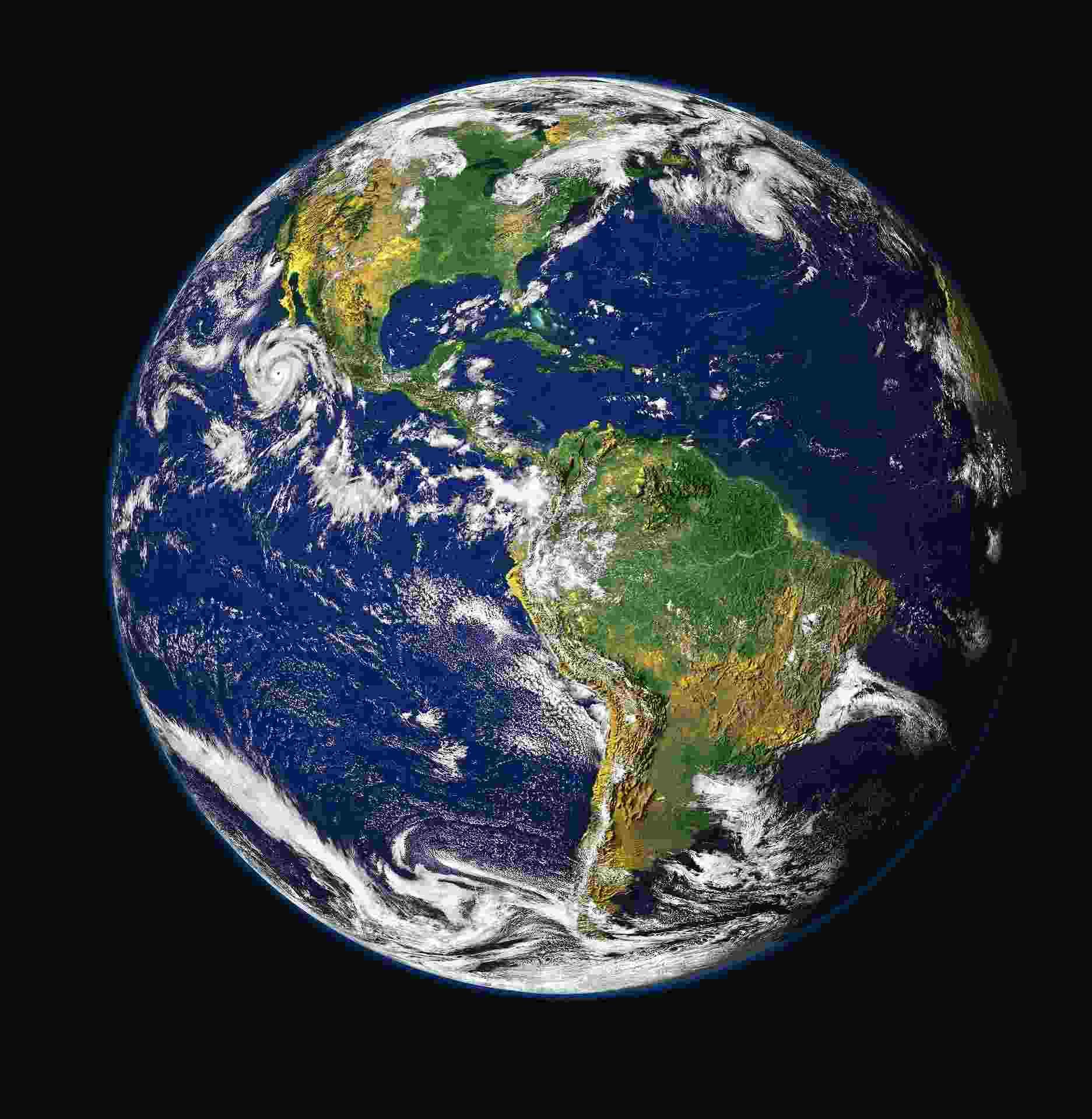 Der Planet Erde aus dem Weltall