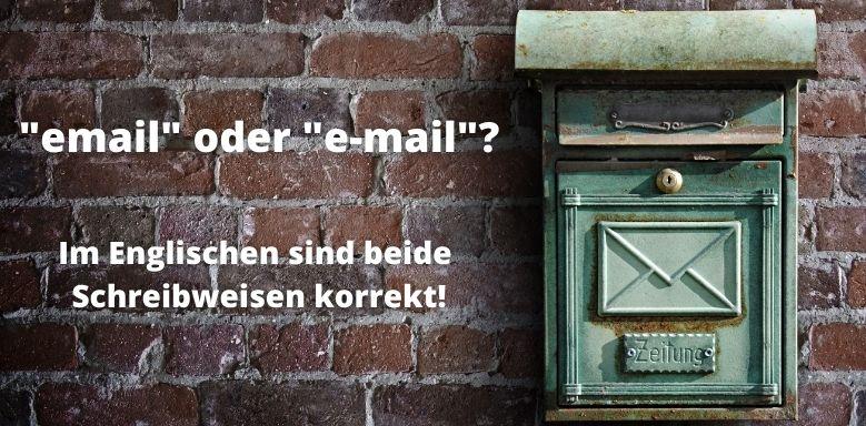 E-mail Englisch Schreibweise