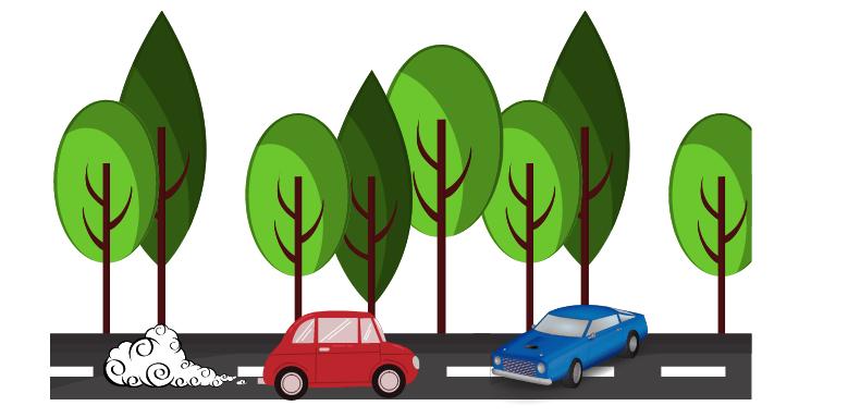 Autos auf Straße - Going-to-Future Verwendung