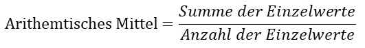 Arithmetisches Mittel vereinfachte Formel
