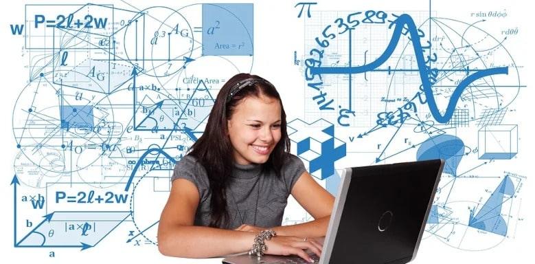 Mädchen am Rechner - Volumeneinheiten