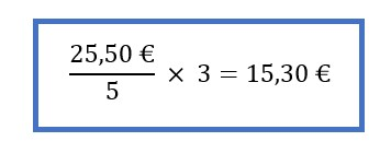 Proportionaler Dreisatz: Formel