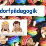 Waldorfpädagogik Bunte Kreisel mit Kindern