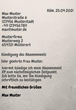 Man auf brief schreibt deutsch wie Briefe im