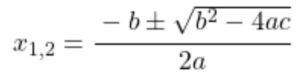 Mitternachtsformel, Berechnung Nullstelle