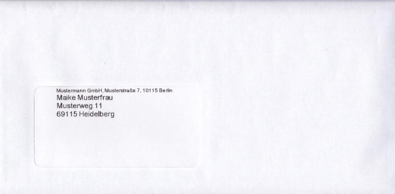Absender briefe empfänger verschicken Brief beschriften: