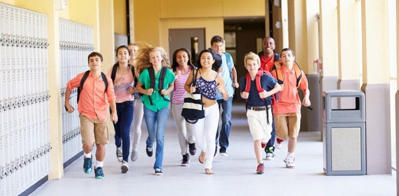 Rennende Schüler