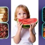 Kind mit Lunchboxen