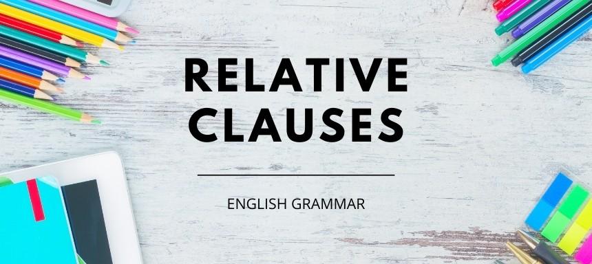 Beitragsbild relative clauses, englische Relativsätze