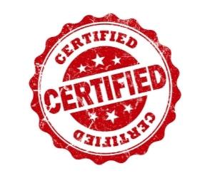Zertifizierungsstempel