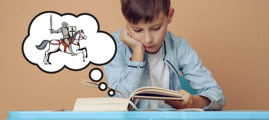 Stilmittel Wirkung lesender Junge