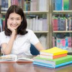 Studentin am Lernen