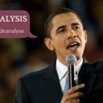 Barack Obama Rede als Beispiel für speech analysis
