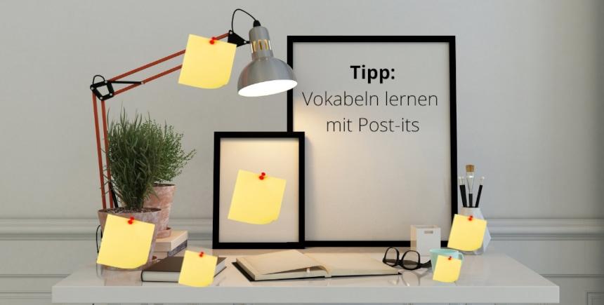 Vokabeln lernen (post-its)
