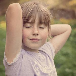 Meditieren für Kinder Mädchen