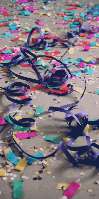 Einschulung Feier Konfetti