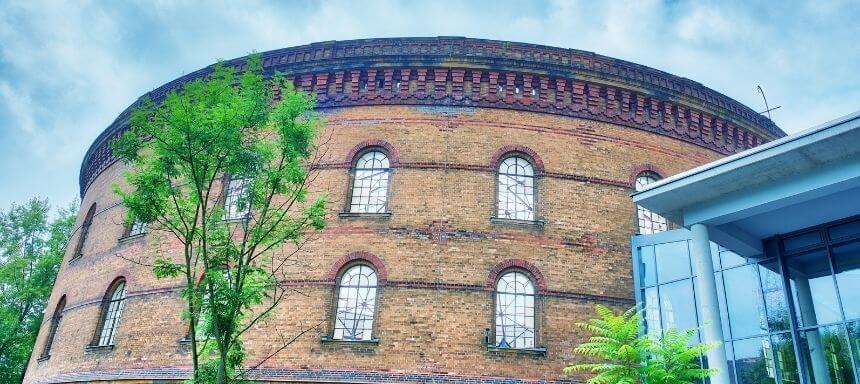 Seitenansicht des Panometers in Leipzig